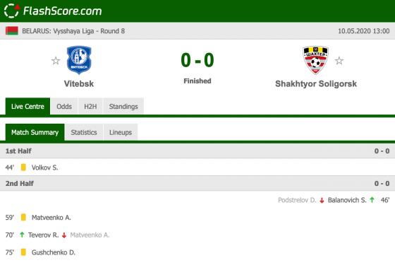 Vitebsk – Shakhtyor