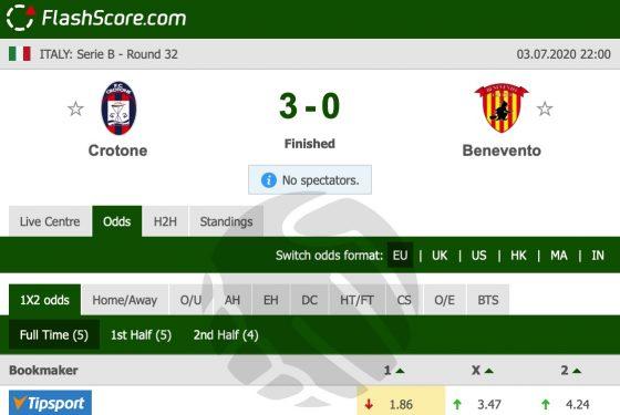 Crotone – Benevento